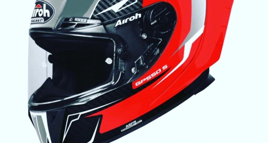 CASCO AIROH GP 550S VENOM RED GLOSS