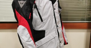 GIACCA DAINESE TEMPEST 2 D-DRY BIANCO-ROSSO